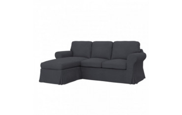 EKTORP Fodera per divano a 2 posti con chaise-longue