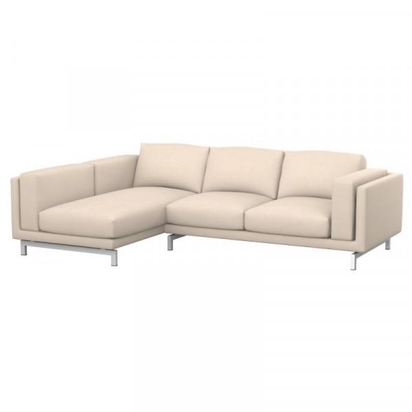 NOCKEBY Fodera divano 2 posti con chaise-longue sinistro
