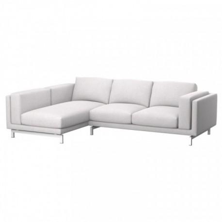 NOCKEBY Fodera divano 2 posti con chaise-longue sinistro - Soferia ...