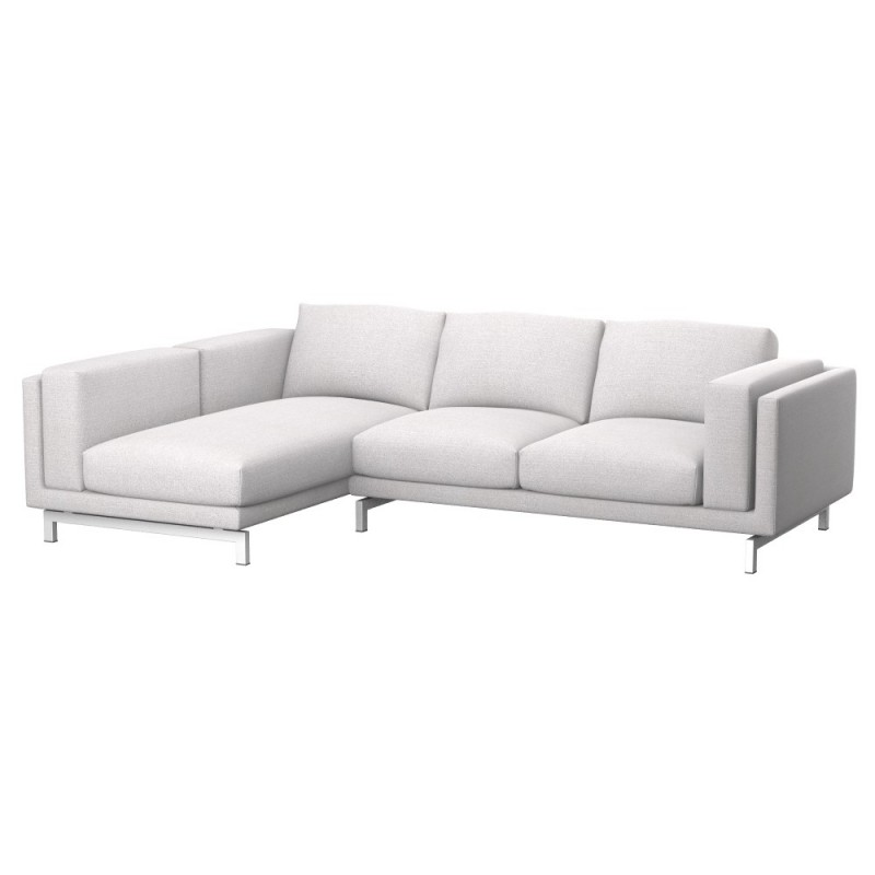 Nockeby fodera divano 2 posti con chaise longue sinistro for Divano chaise longue ikea