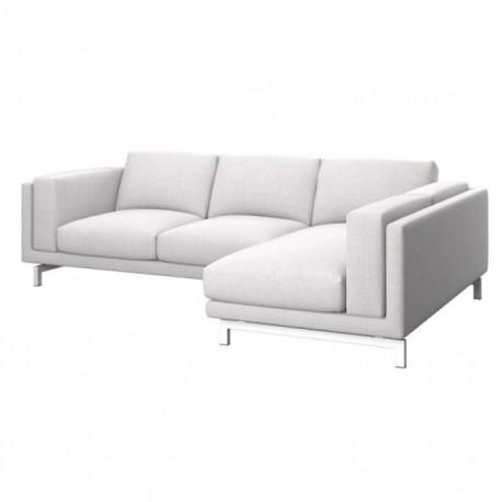 NOCKEBY Fodera divano 2 posti con chaise-longue destro
